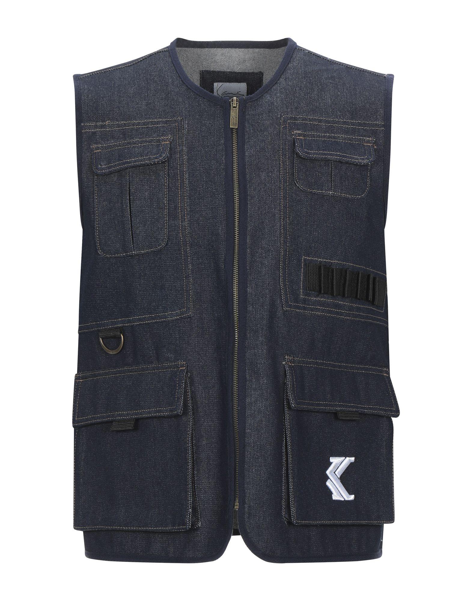 《セール開催中》KARL KANI メンズ ジレ ブルー XS コットン 100%