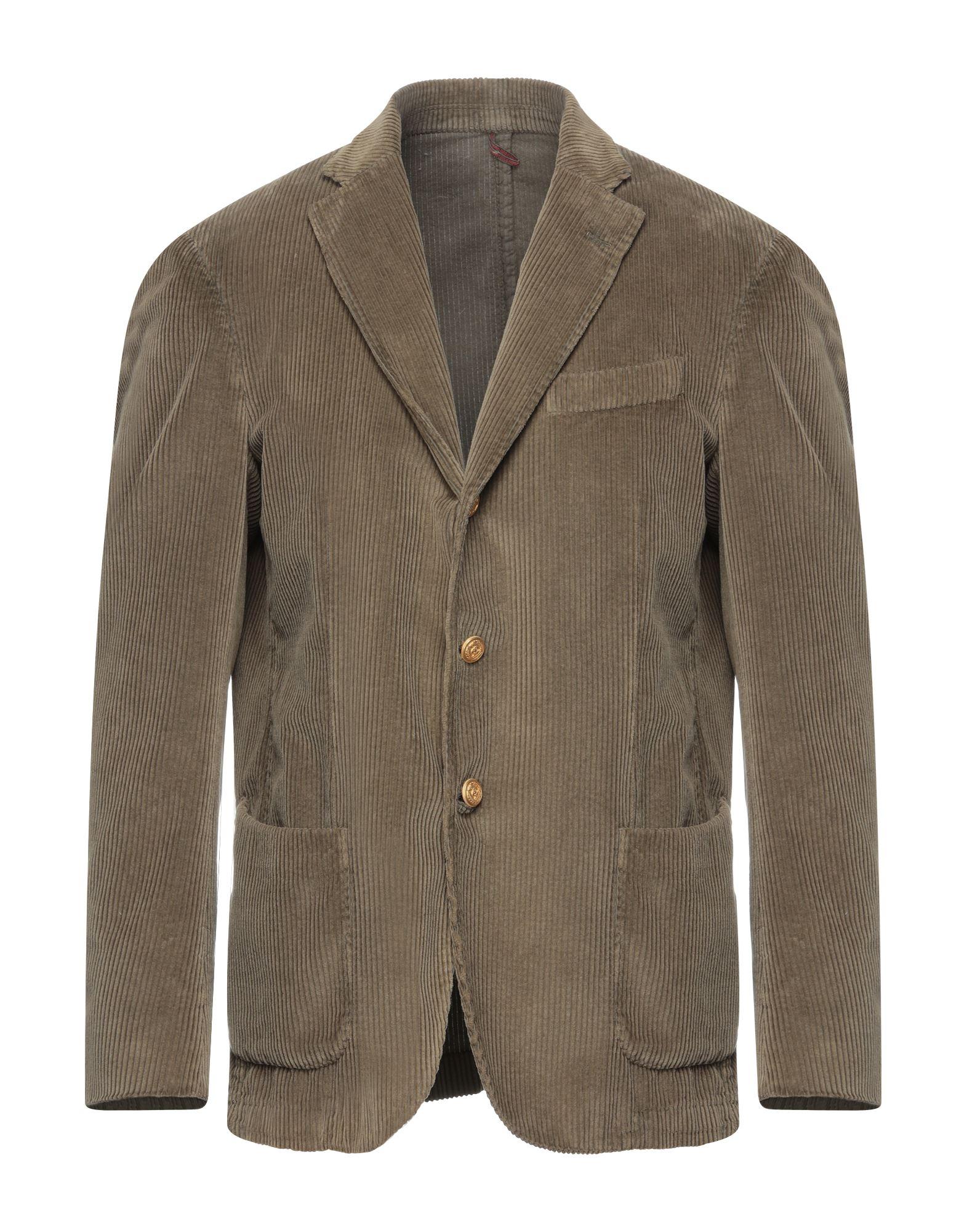 《セール開催中》LA VIE EST BELLE メンズ テーラードジャケット ミリタリーグリーン 54 コットン 100%