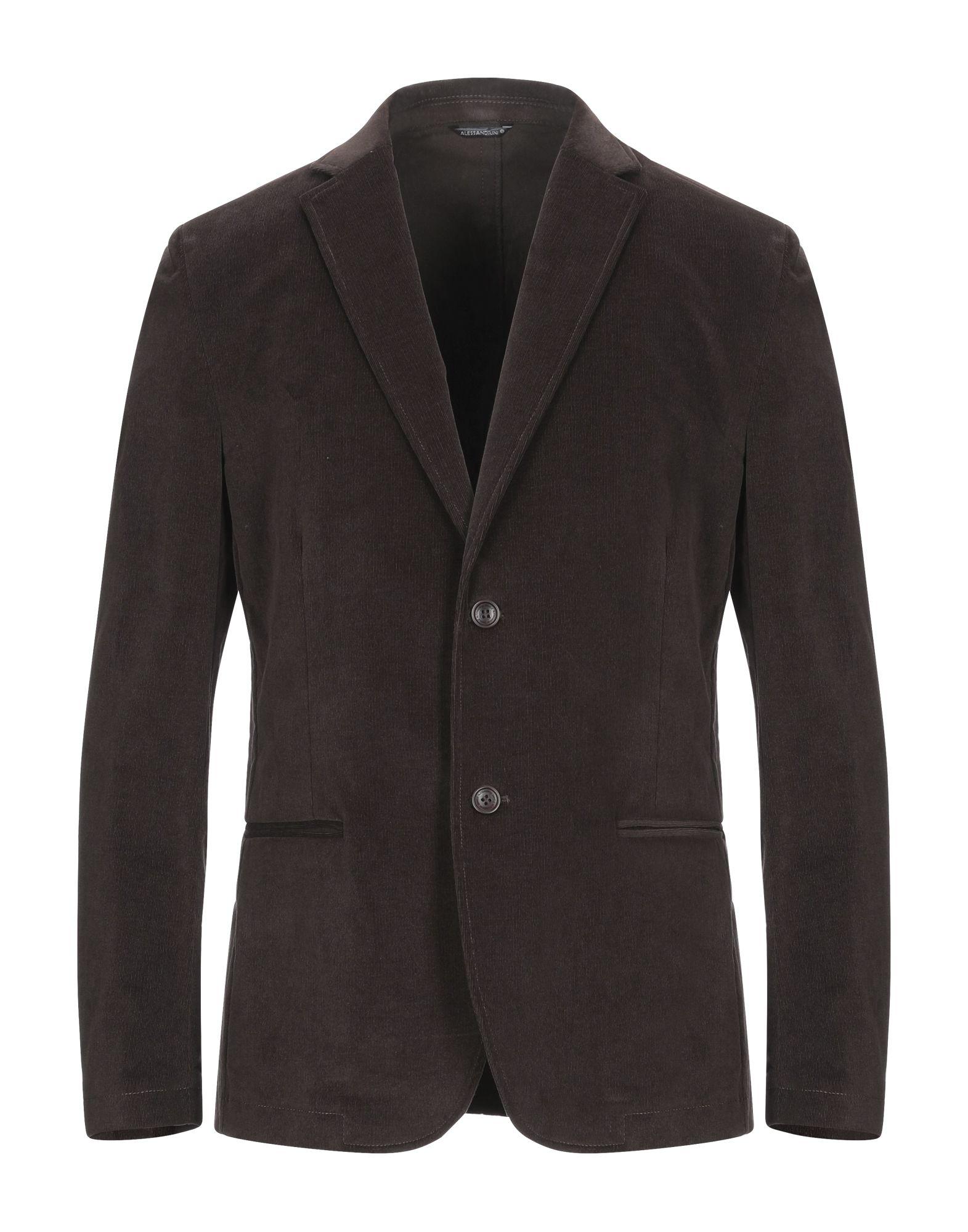 《セール開催中》DANIELE ALESSANDRINI HOMME メンズ テーラードジャケット ダークブラウン 48 コットン 98% / ポリウレタン 2%