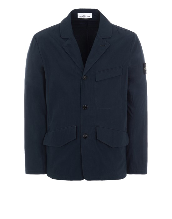 STONE ISLAND 80106 O-COTTON/R-NYLON TELA Suit Man Blue
