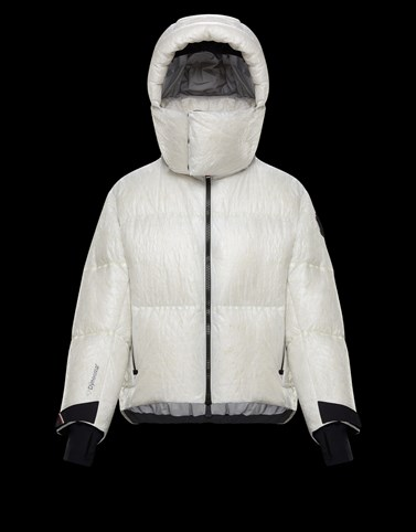 CHALVINE White Short Down Jackets Woman