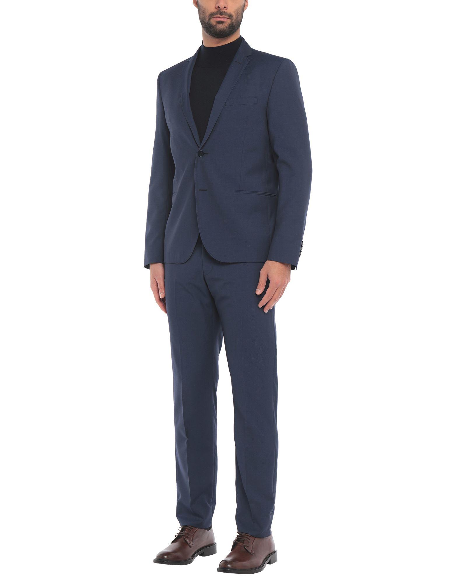 《セール開催中》BERRY & BRIAN メンズ スーツ ダークブルー 54 バージンウール 100%