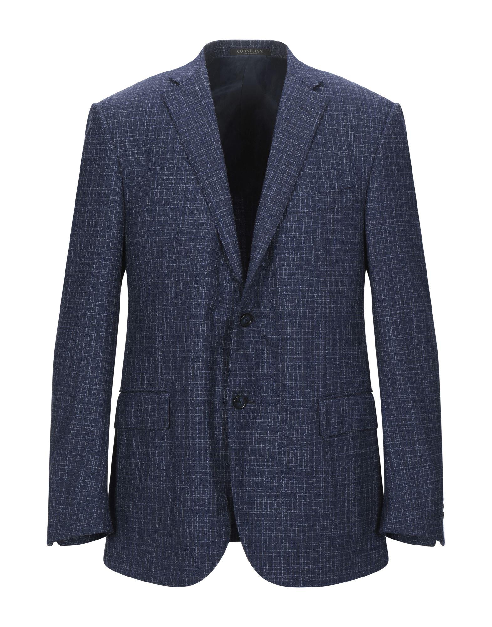 《セール開催中》CORNELIANI メンズ テーラードジャケット ダークブルー 52 バージンウール 83% / シルク 17%
