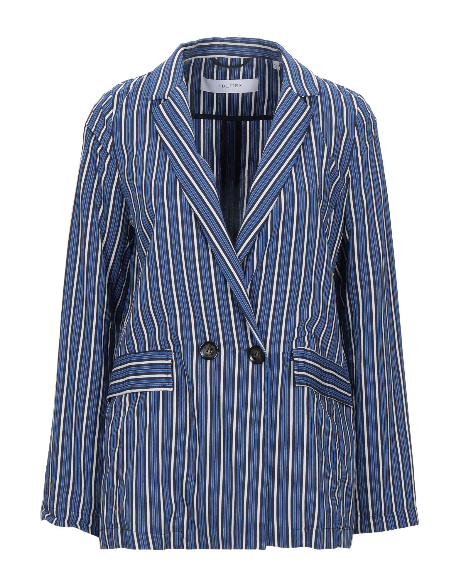 《セール開催中》I BLUES レディース テーラードジャケット ブルー 40 レーヨン 89% / ナイロン 11%
