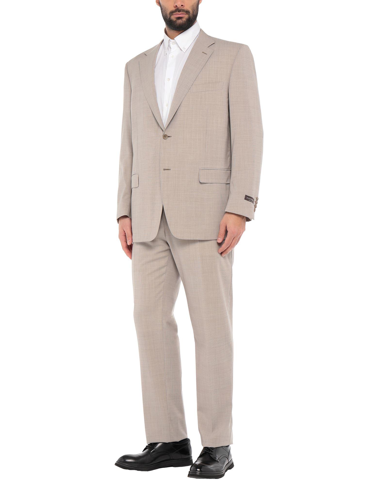 《セール開催中》CANALI メンズ スーツ ベージュ 56 バージンウール 100%