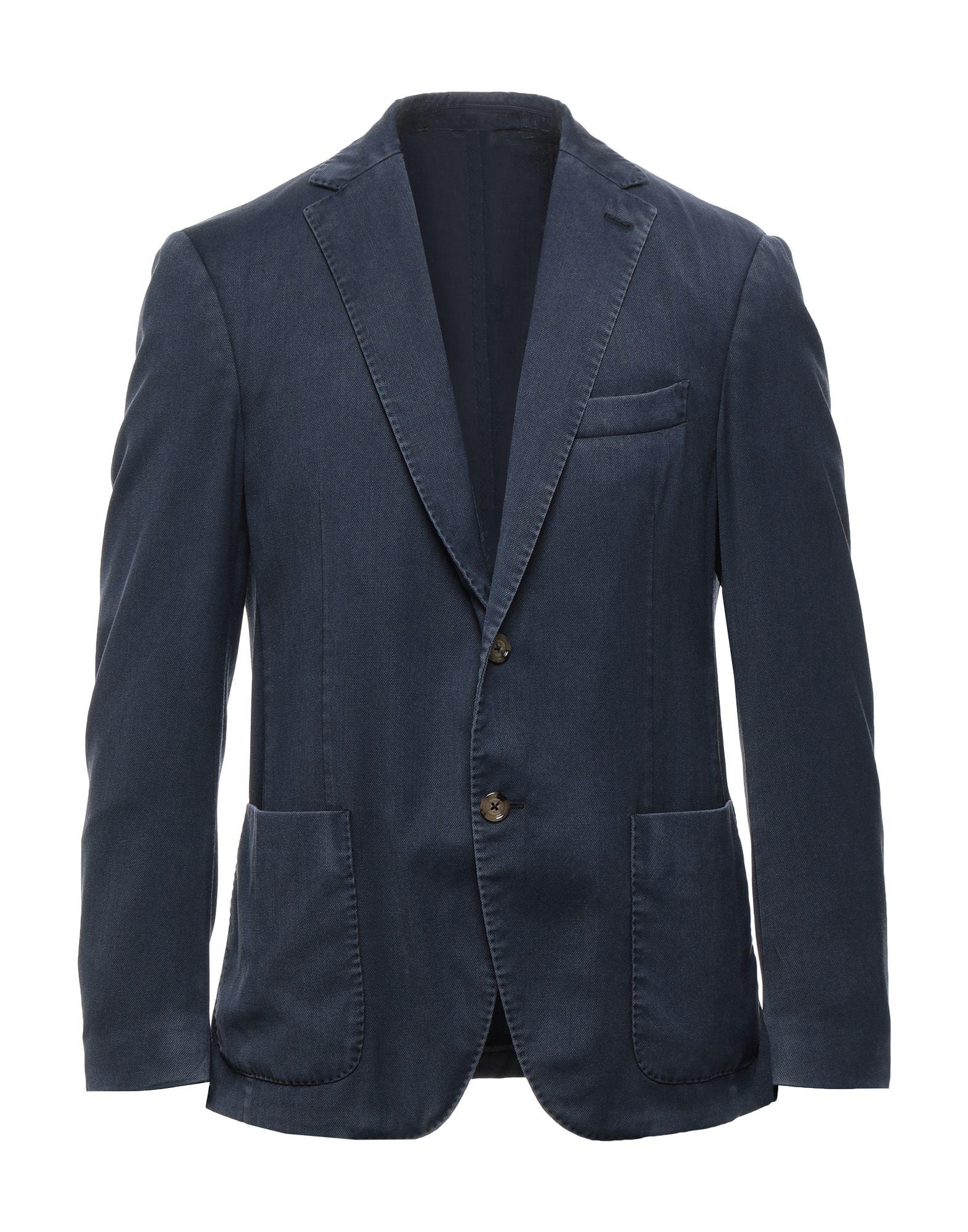 《セール開催中》ELEVENTY メンズ テーラードジャケット ダークブルー 50 ウール