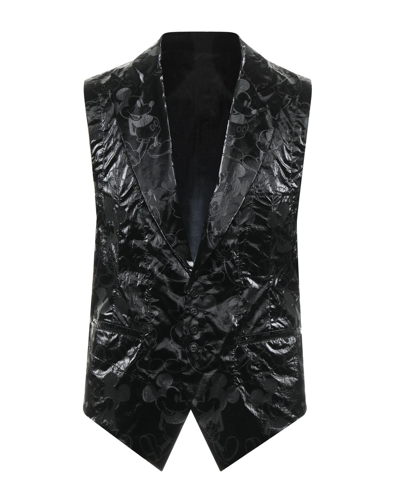 《セール開催中》TAKAHIROMIYASHITA THESOLOIST. メンズ ジレ ブラック 48 ポリエステル 100% / シルク / コットン