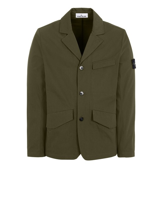 Sold out - STONE ISLAND 80106 O-COTTON/R-NYLON TELA Suit Man Olive Green