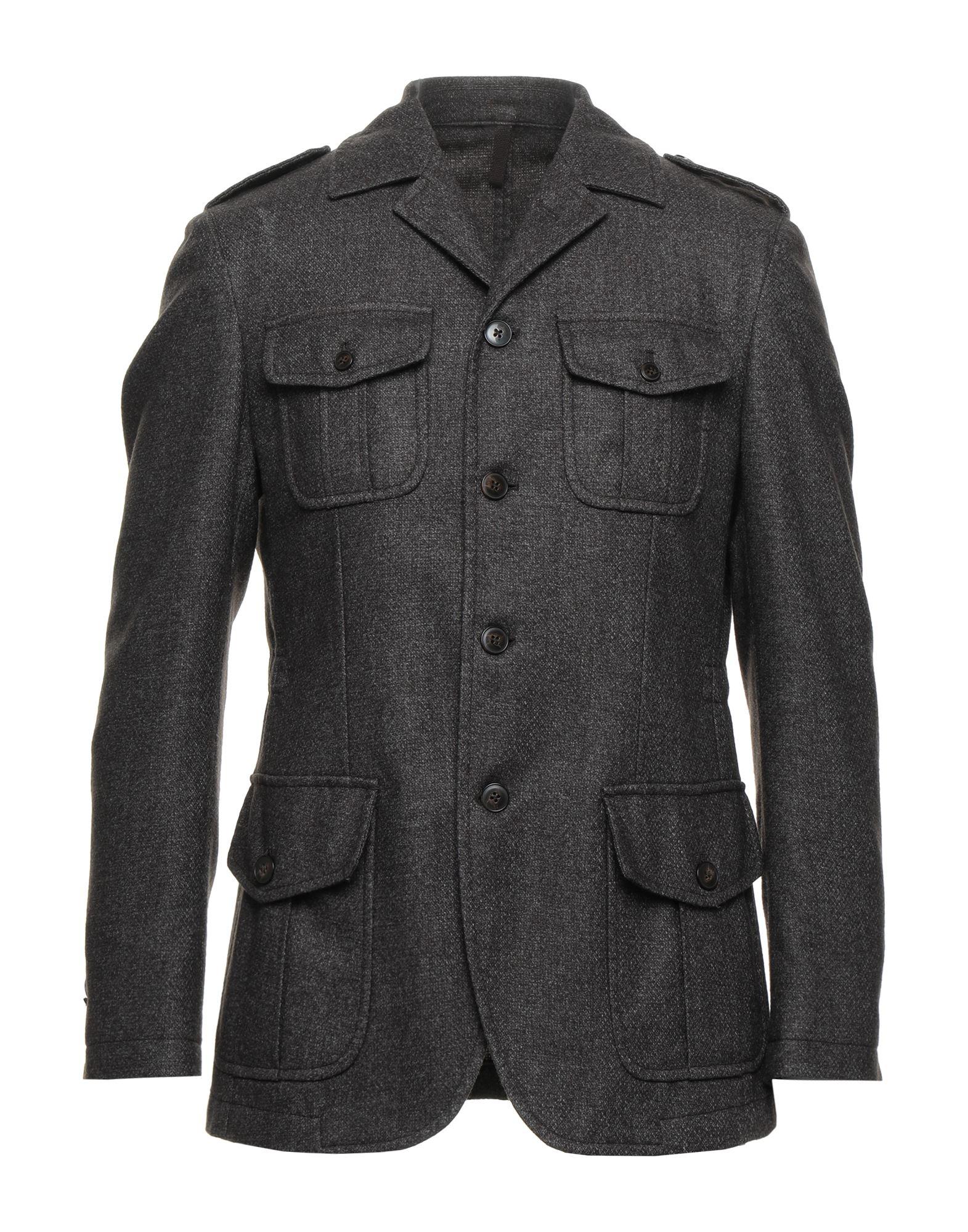 《セール開催中》L.B.M. 1911 メンズ テーラードジャケット ダークブラウン 48 ウール 70% / ポリエステル 30%