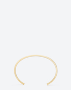 SAINT LAURENT Cuffs And Bangles D ARMURE FIL CARRÉ BANGLE IN gold vermeil f