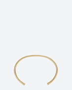 SAINT LAURENT Cuffs And Bangles D ARMURE FIL SERPENT BANGLE In gold vermeil f