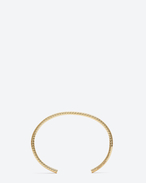 ARMURE FIL CHEVRON BANGLE In gold vermeil