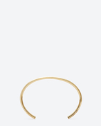 SAINT LAURENT Cuffs And Bangles D ARMURE FIL CLOU DE PARIS BANGLE IN gold VERMEIL f