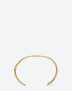 SAINT LAURENT Cuffs And Bangles D ARMURE FIL DIAGONAL BANGLE In gold vermeil f