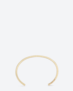 SAINT LAURENT Cuffs And Bangles D ARMURE FIL STRIÉ BANGLE In gold vermeil f