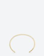 SAINT LAURENT Cuffs And Bangles U ARMURE FIL STRIÉ BANGLE in gold vermeil f