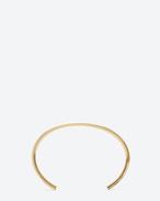 SAINT LAURENT Cuffs And Bangles U ARMURE FIL CLOU DE PARIS bangle in gold vermeil f