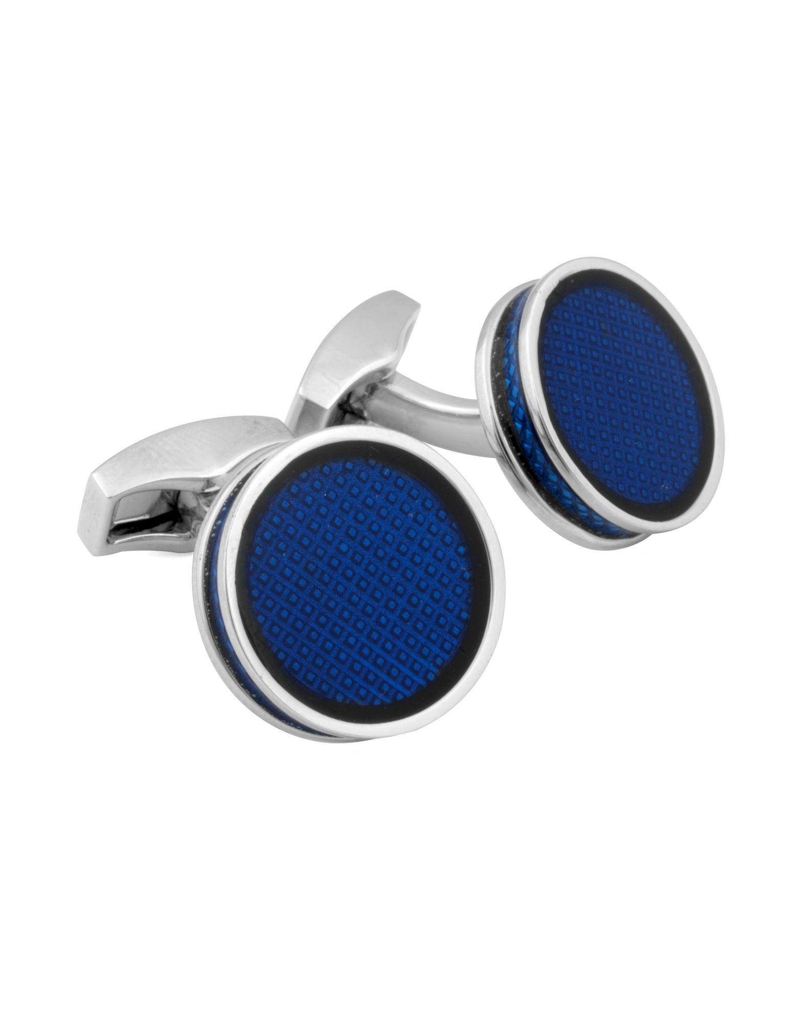 《送料無料》TATEOSSIAN メンズ カフリンク&タイピン ブルー ロジウム