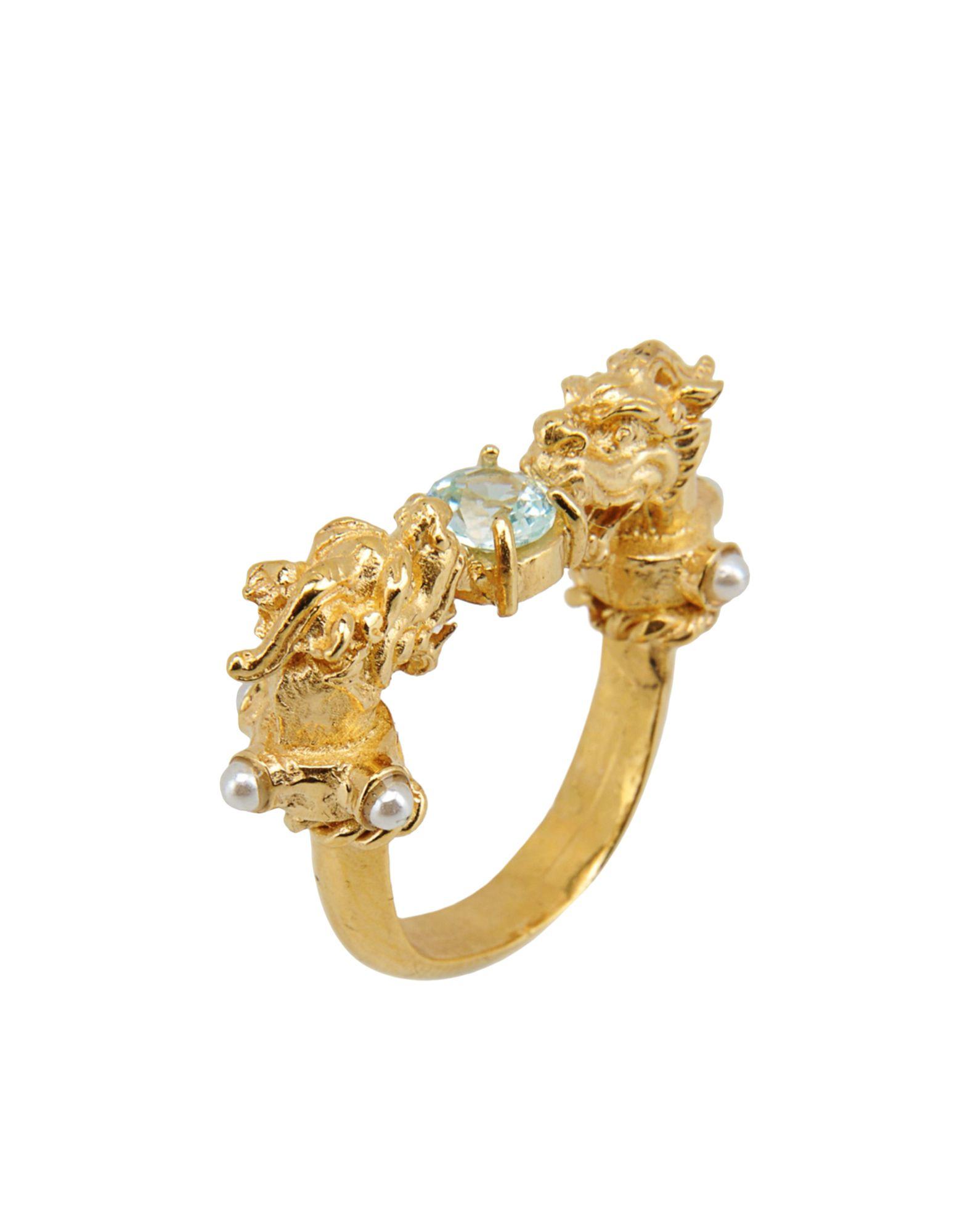 《セール開催中》FIRST PEOPLE FIRST レディース 指輪 クリア 6 真鍮/ブラス Dragon´s Nest Erinite Ring