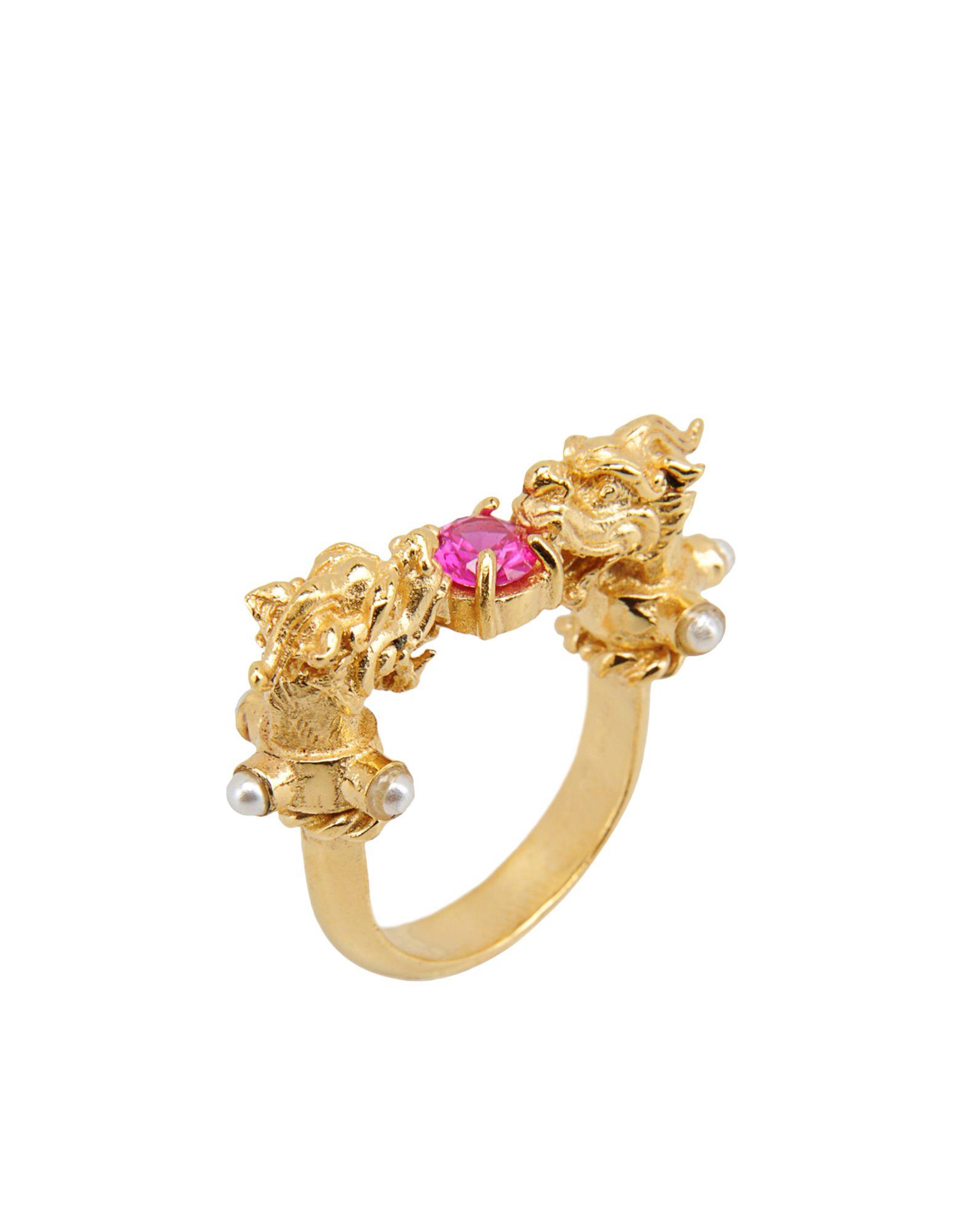 《セール開催中》FIRST PEOPLE FIRST レディース 指輪 フューシャ 8 真鍮/ブラス / キュービックジルコニア Dragon´s Nest Ruby Ring