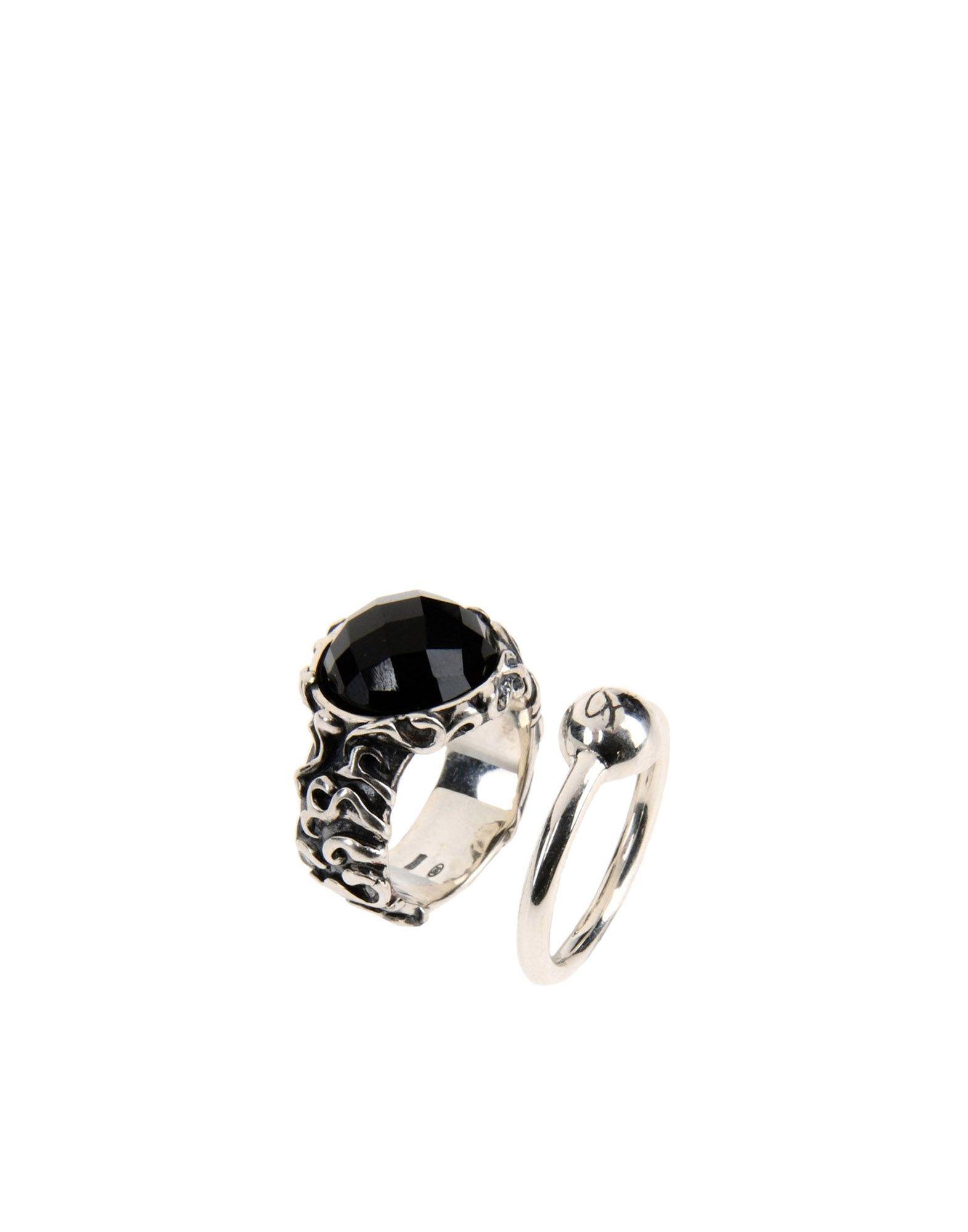 MANUEL BOZZI Ring in Maroon