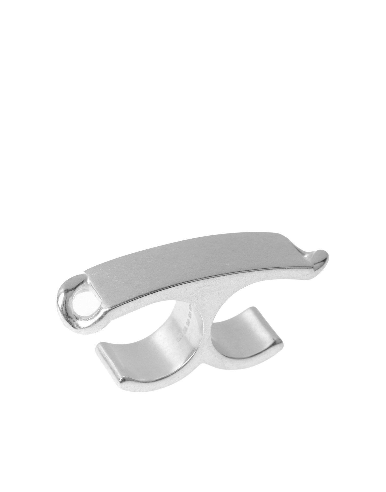 《送料無料》MAISON MARGIELA レディース 指輪 シルバー M 100% 真鍮/ブラス