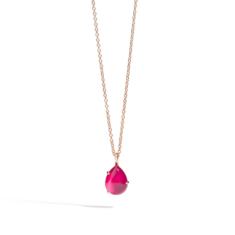 POMELLATO Pendant with chain Rouge Passion F.B505 E f
