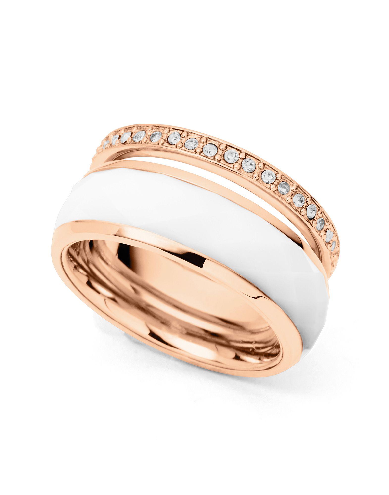 FOSSIL Damen Ring Farbe Weiß Größe 17