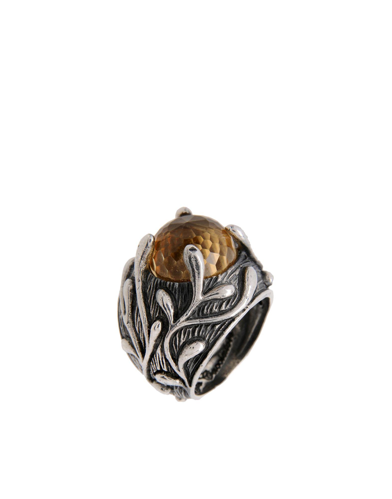 《期間限定 セール開催中》FIRST PEOPLE FIRST メンズ 指輪 シルバー M 金属繊維 BRANCH OF LEAVES GEM RING