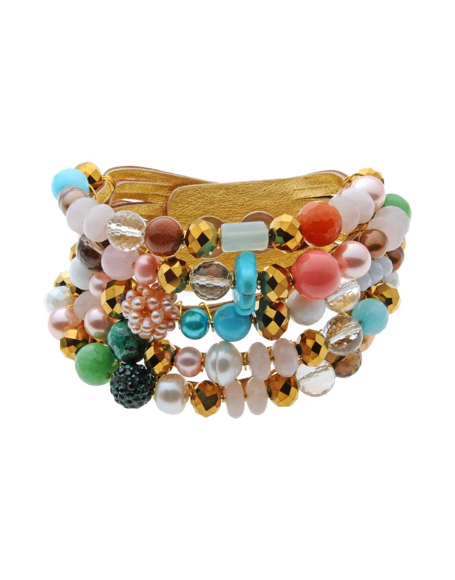 《送料無料》FIRST PEOPLE FIRST レディース ブレスレット ゴールド 革 happy chic bracelet
