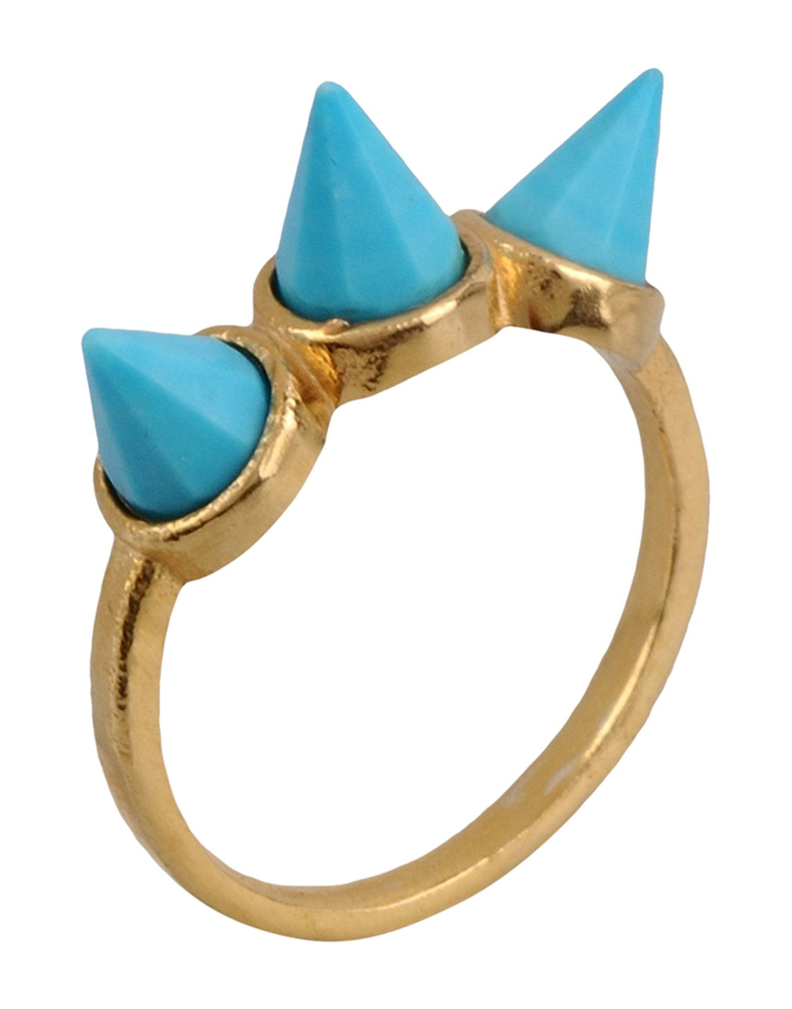 《セール開催中》FIRST PEOPLE FIRST レディース 指輪 ターコイズブルー 7 真鍮/ブラス Hand made Gemstone Ring