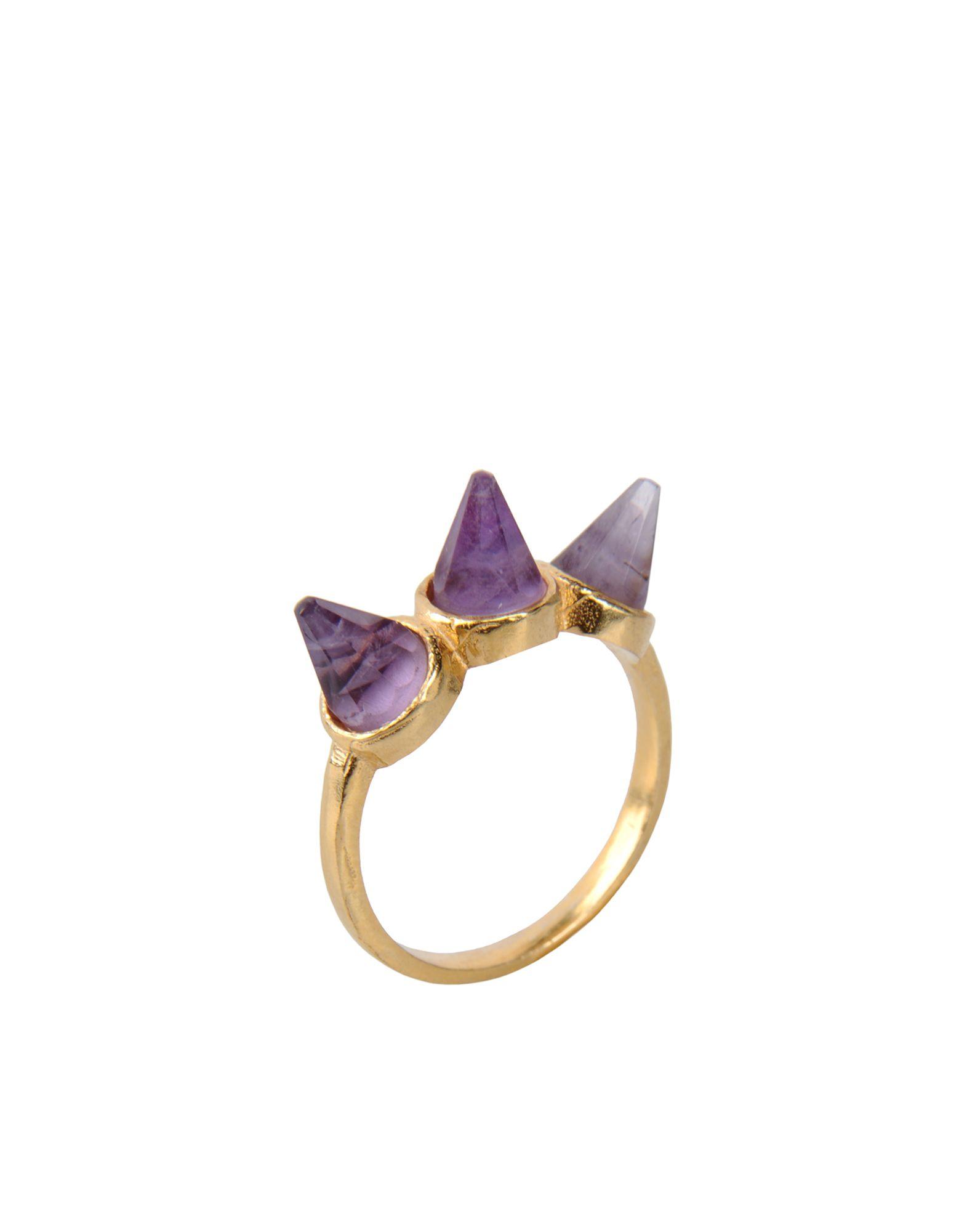 《セール開催中》FIRST PEOPLE FIRST レディース 指輪 パープル 7 真鍮/ブラス Hand made Gemstone Ring