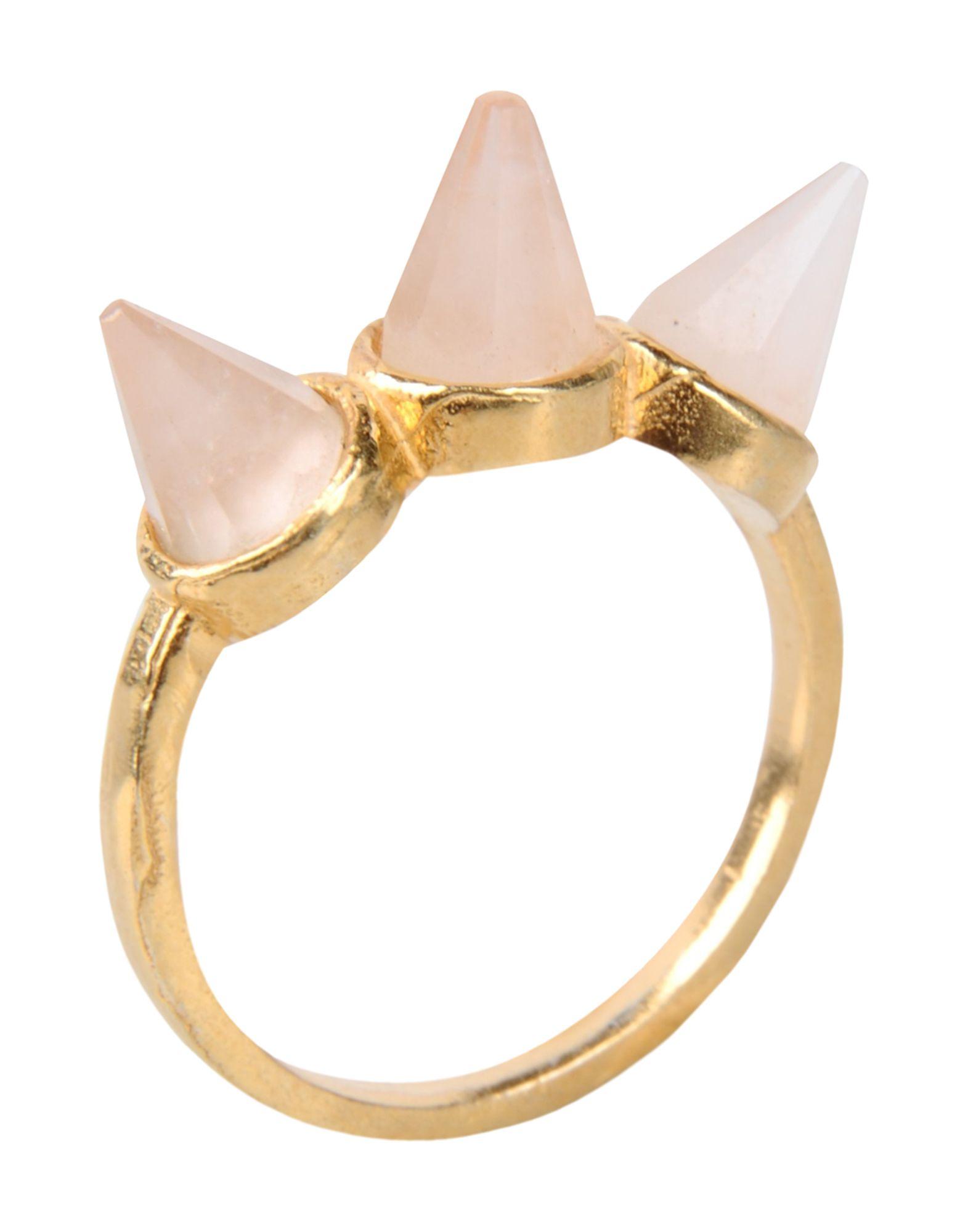 《セール開催中》FIRST PEOPLE FIRST レディース 指輪 ライトピンク 7 真鍮/ブラス Hand made Gemstone Ring