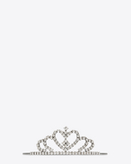 DIADÈME Heart Tiara in Silver-Toned Brass and Crystal