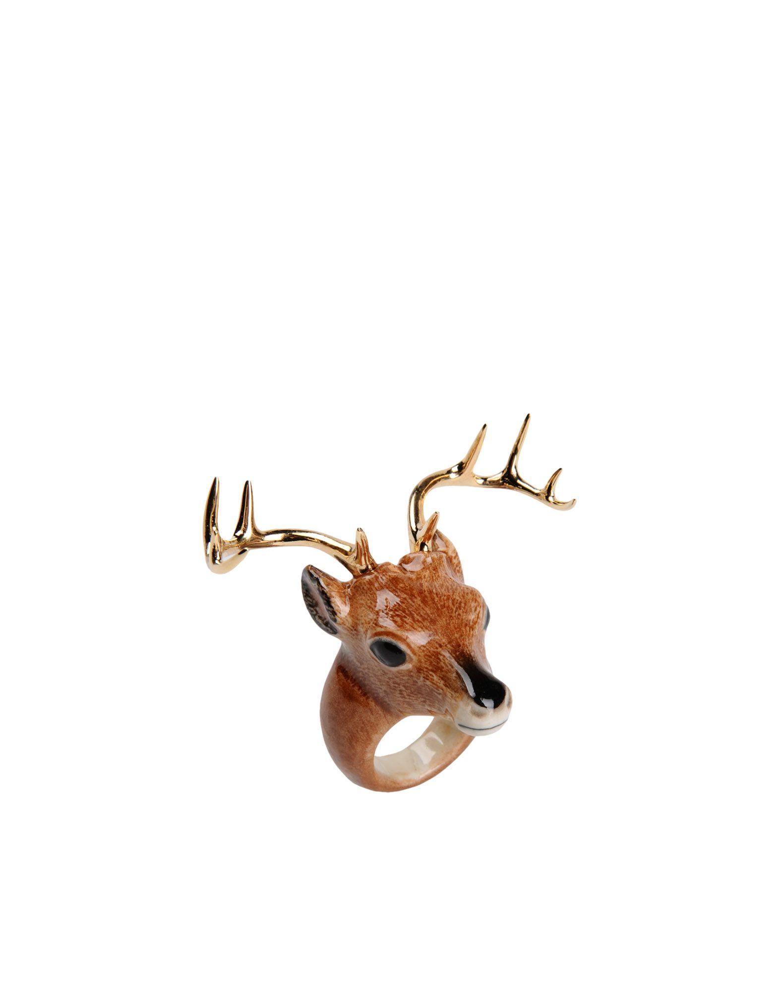 《送料無料》NACH レディース 指輪 ブラウン one size セラミック / 真鍮/ブラス