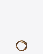 SAINT LAURENT Rings D ANIMALIER Serpent Ring in Old Gold-Toned Brass and Clear Crystal f