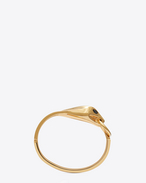 SAINT LAURENT Cuffs And Bangles D ANIMALIER Serpent Bangle in Gold-Toned Brass and Black Crystal f