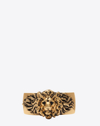 SAINT LAURENT Cuffs And Bangles D LION Cuff in Old Gold-Toned Brass f