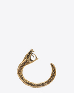 SAINT LAURENT Cuffs And Bangles D ANIMALIER Cobra Cuff in Old Gold-Toned Brass f