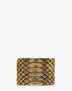 SAINT LAURENT Cuffs And Bangles D ANIMALIER Python Cuff in Old Gold-Toned Brass f