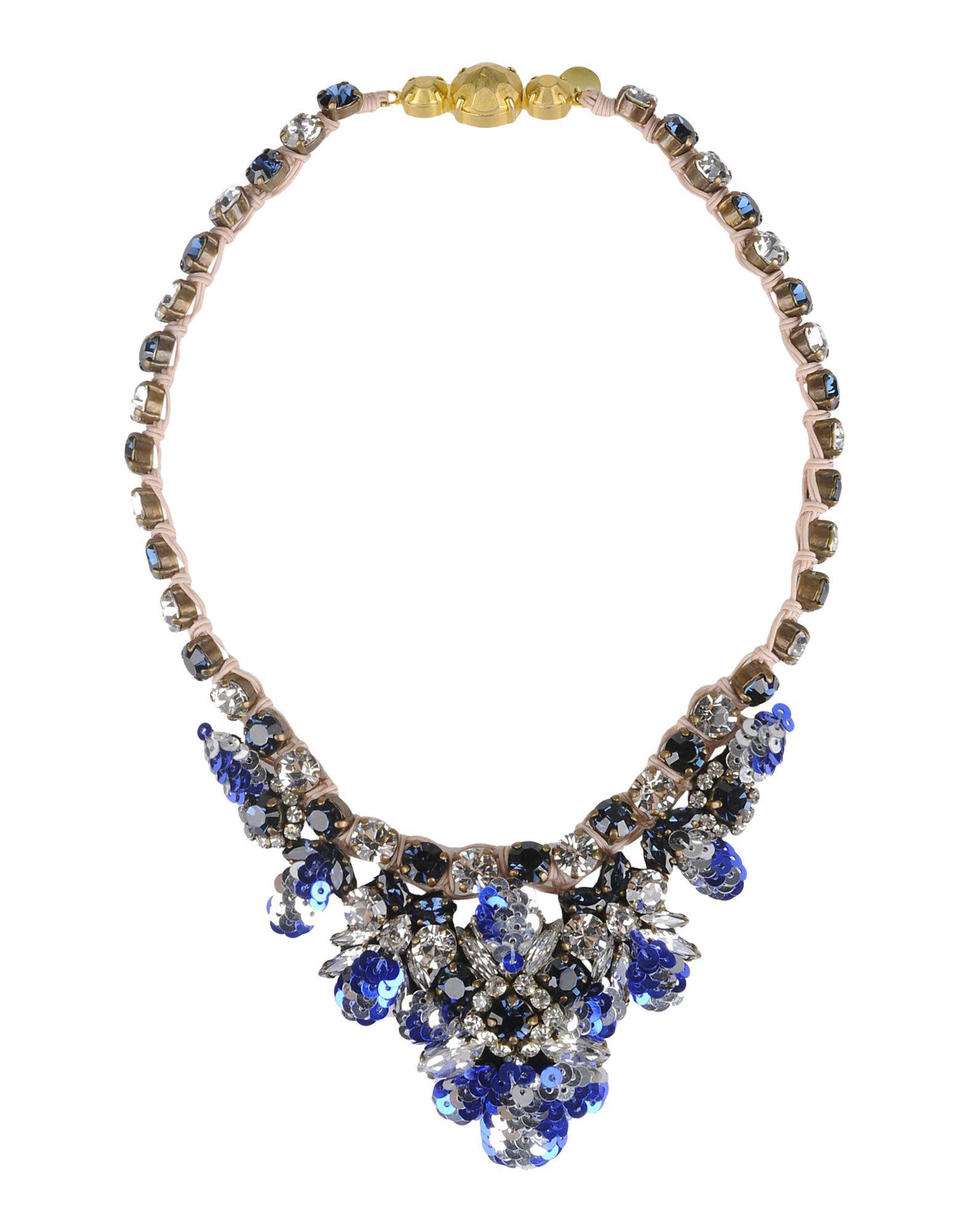 《送料無料》SHOUROUK レディース ネックレス ブルー 紡績繊維 / 金属繊維
