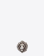 SAINT LAURENT Rings U LION Ring in Oxidized Silver-Toned Brass f