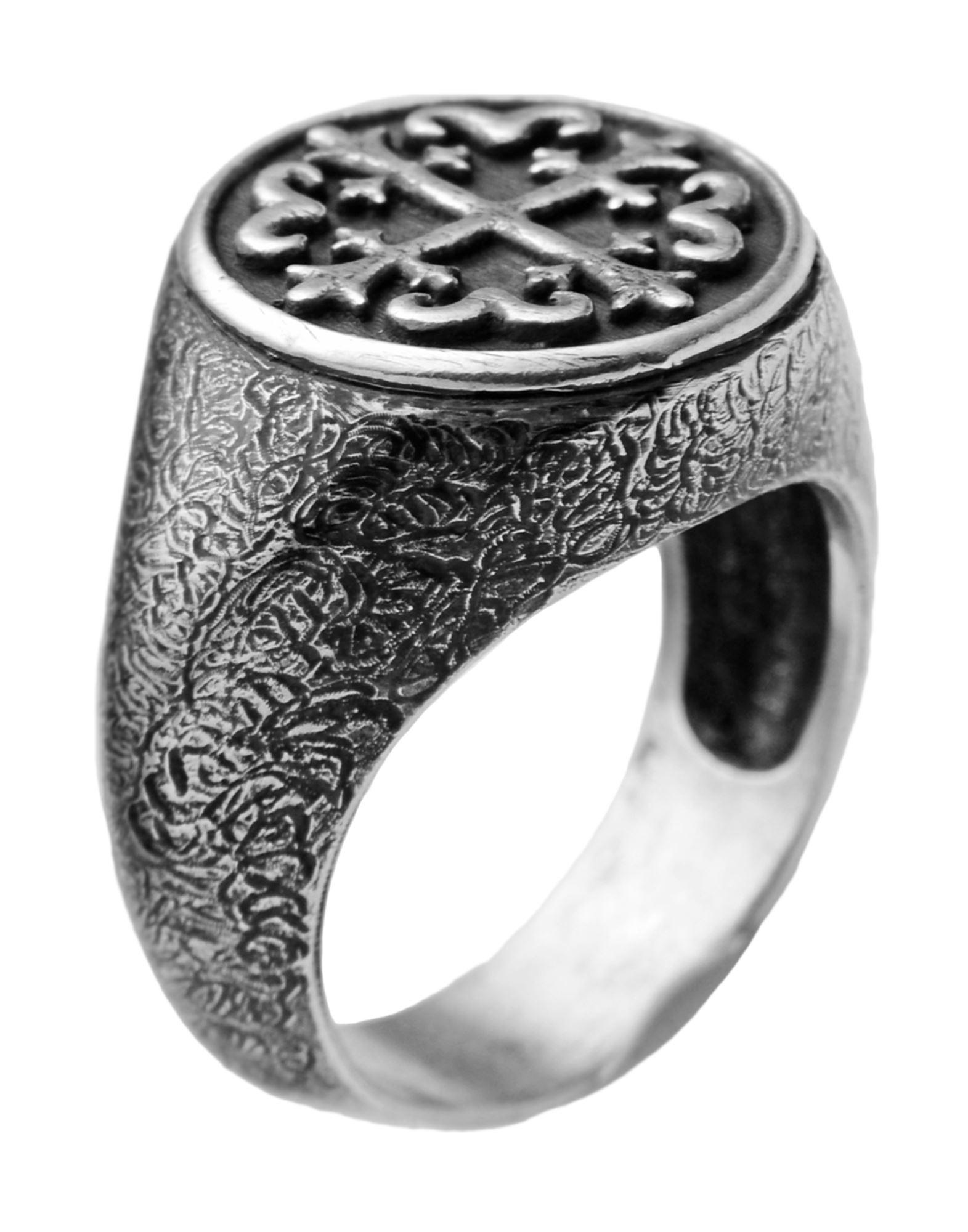 《セール開催中》FIRST PEOPLE FIRST メンズ 指輪 シルバー 20 シルバー925/1000 ANELLO CROCE BAROCCA