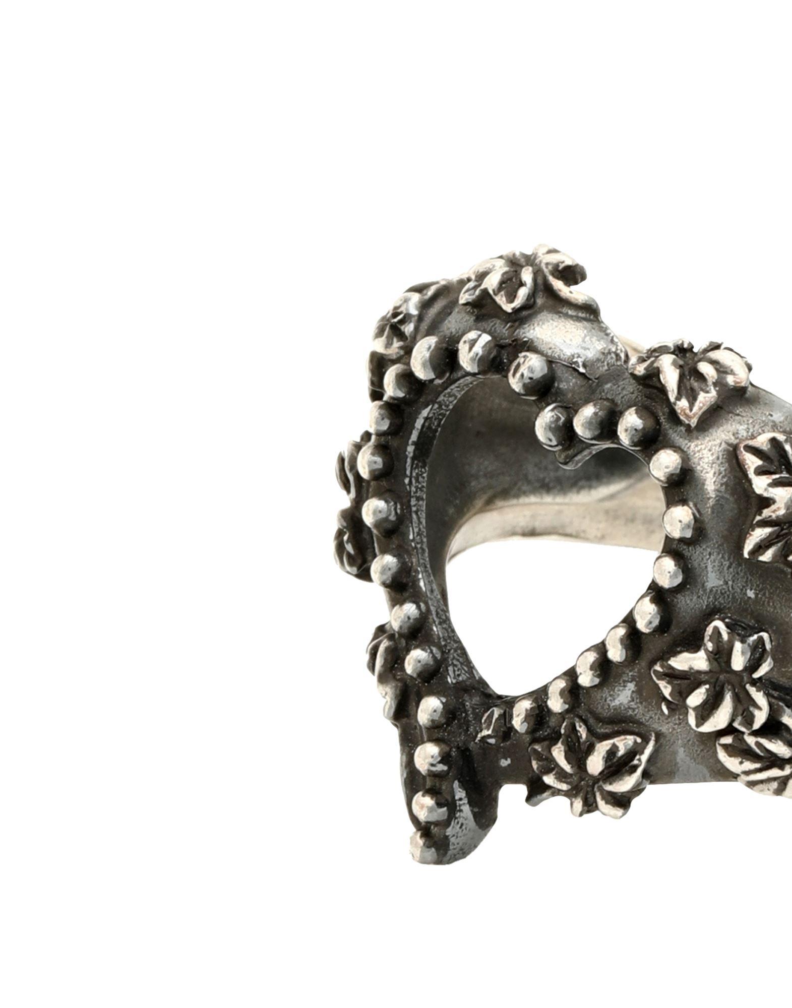 《セール開催中》FIRST PEOPLE FIRST レディース 指輪 鉛色 16 シルバー925/1000 ANELLO CUORE EDERA