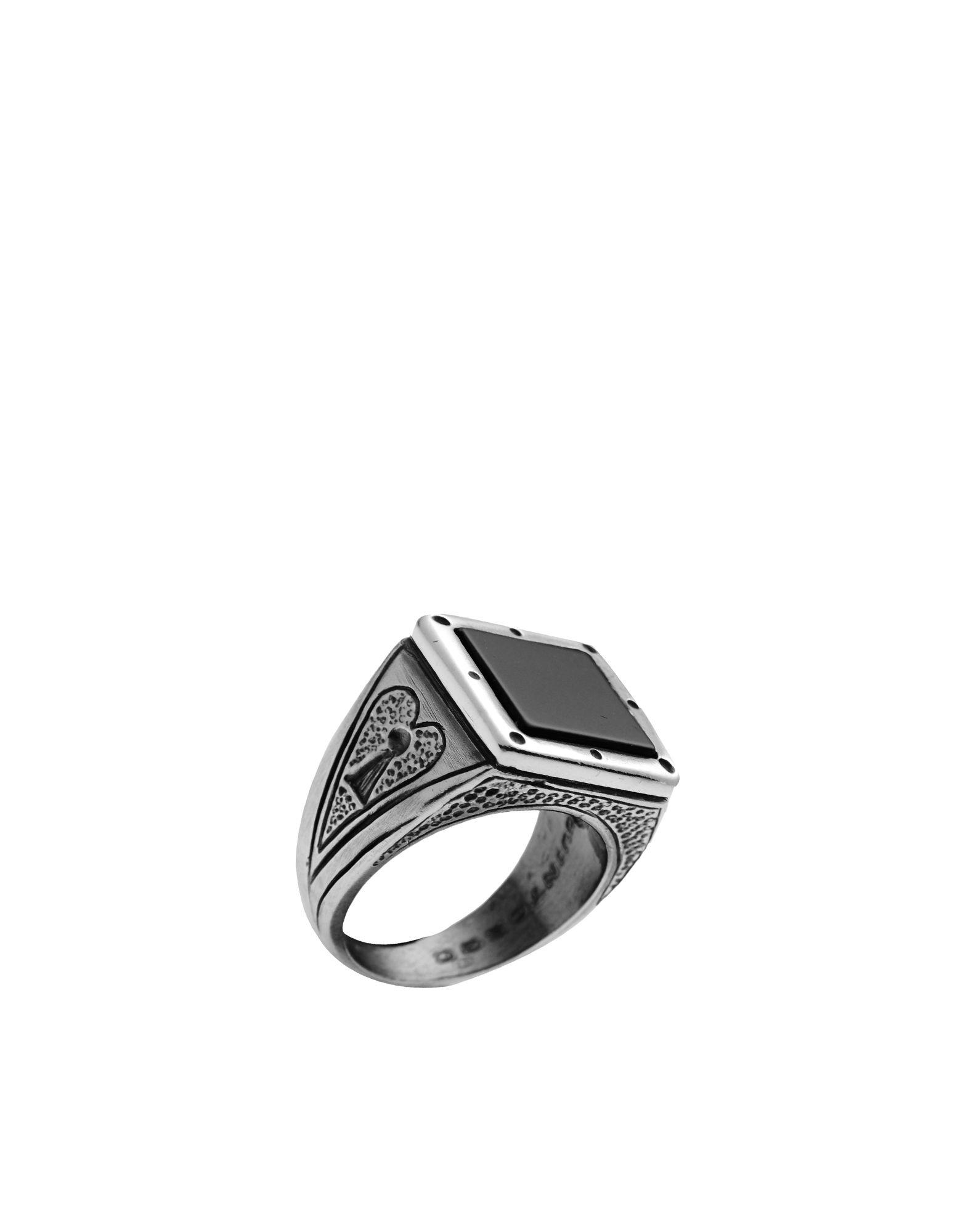 《セール開催中》FIRST PEOPLE FIRST メンズ 指輪 シルバー 20 シルバー925/1000 / オニキス ANELLO PICCHE