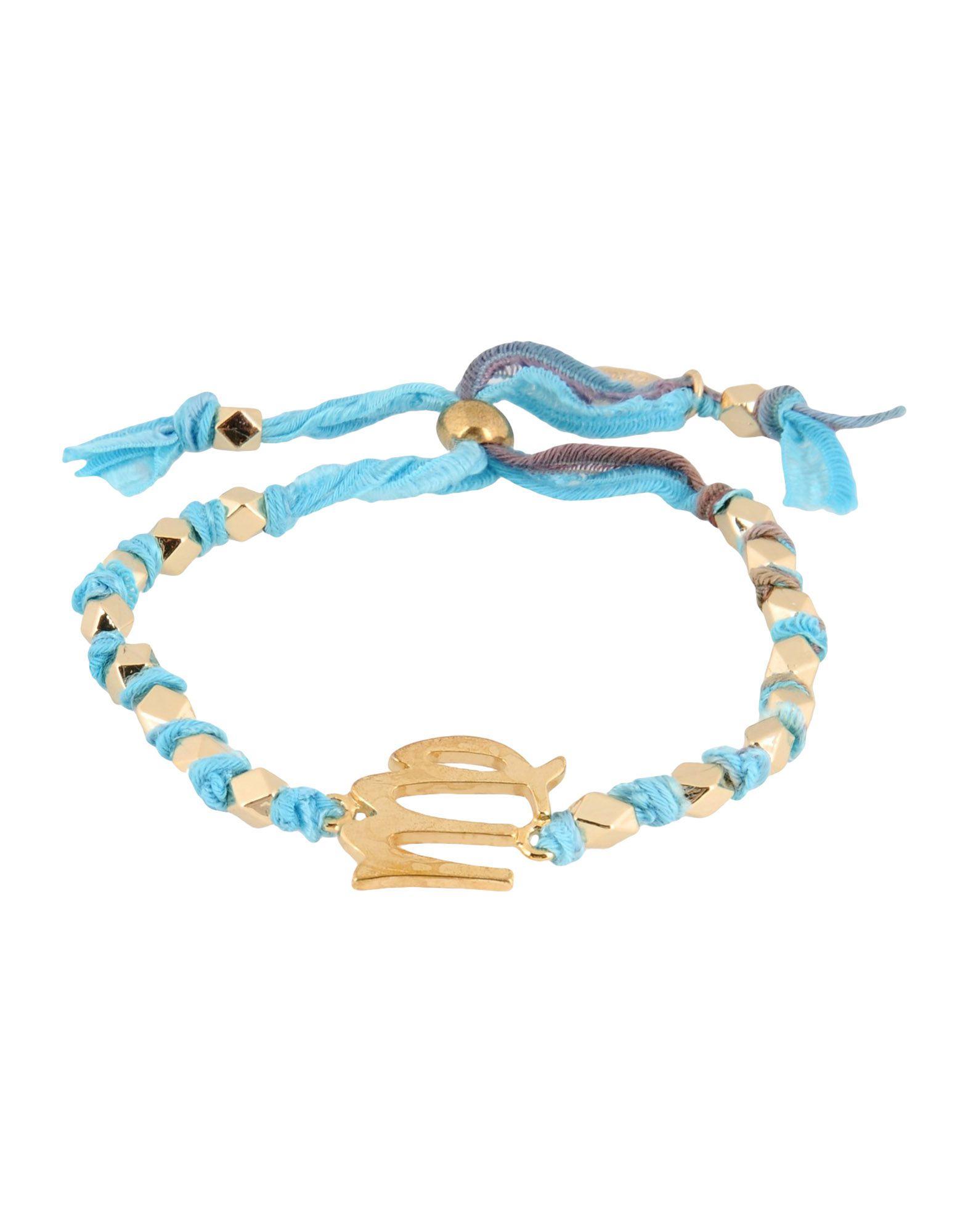 ETTIKA レディース ブレスレット アジュールブルー 紡績繊維 / 金属