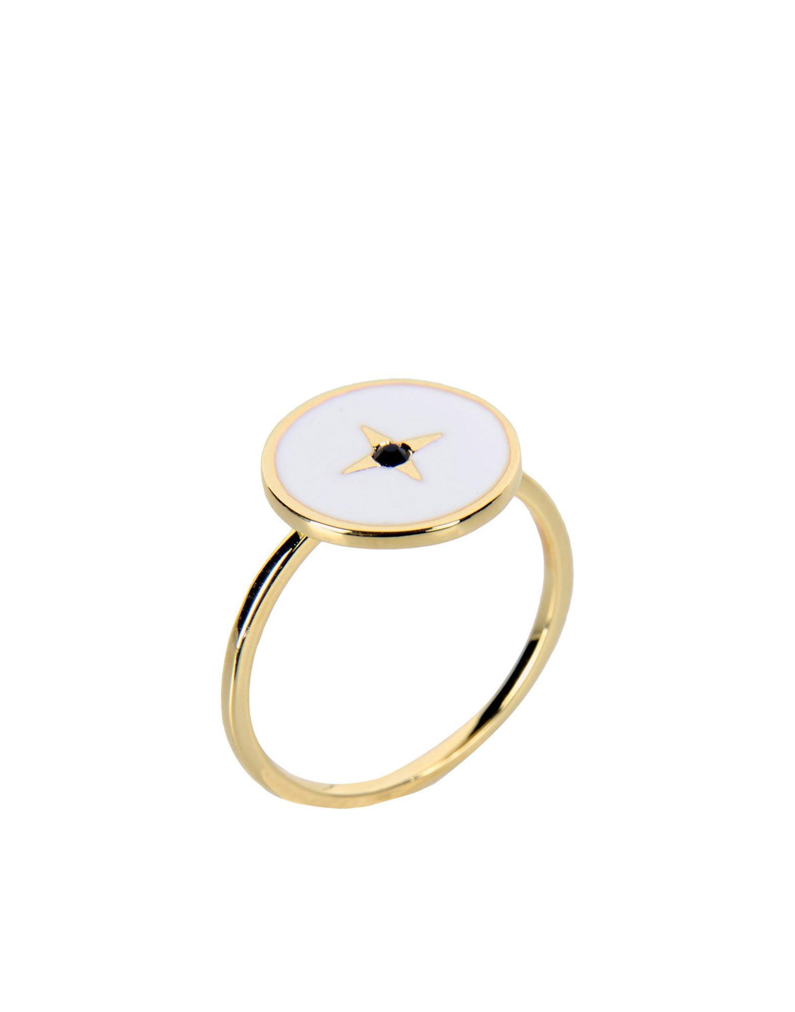 《期間限定 セール開催中》EYLAND レディース 指輪 ホワイト M 真鍮/ブラス / エナメル CALDER RING