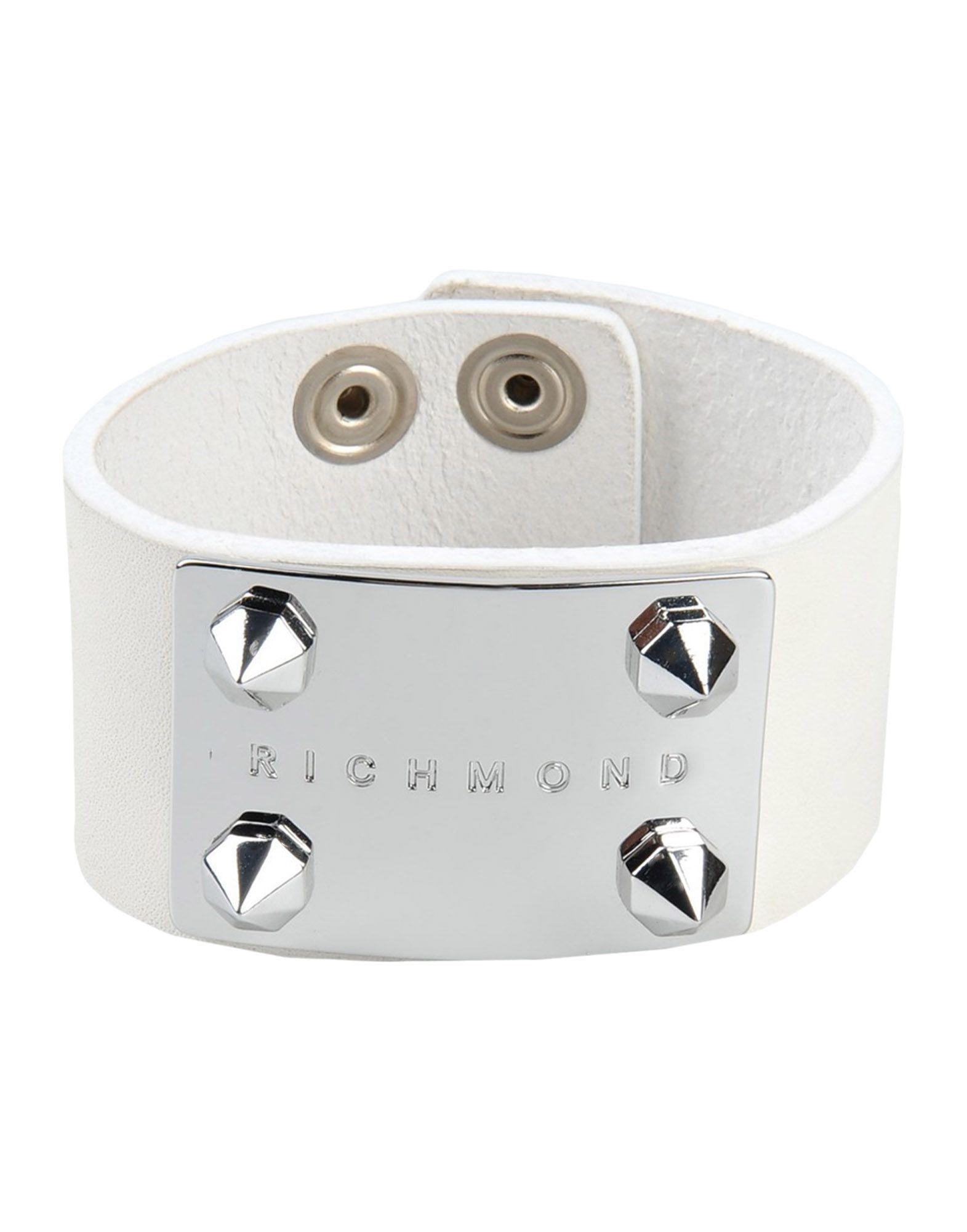 RICHMOND メンズ ブレスレット ホワイト 革