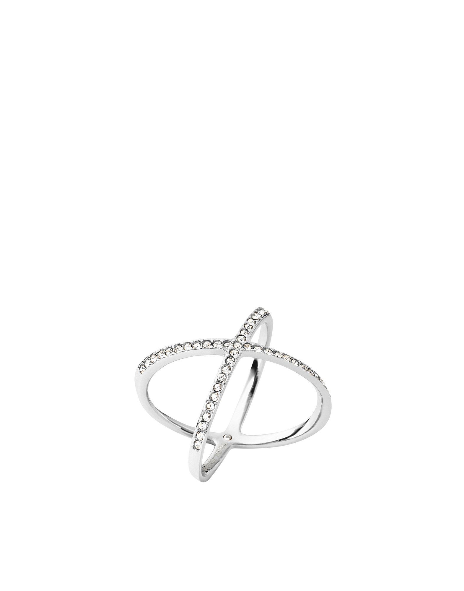《送料無料》MICHAEL KORS レディース 指輪 シルバー 6 スチール / クリスタル CORE