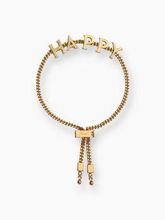 """Bracelet Chloé Messages """"HAPPY"""""""